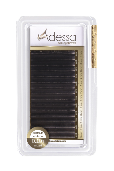 Adessa SILK EYEBROW BLACK ESPESOR 0,10 LONG MIX cejas