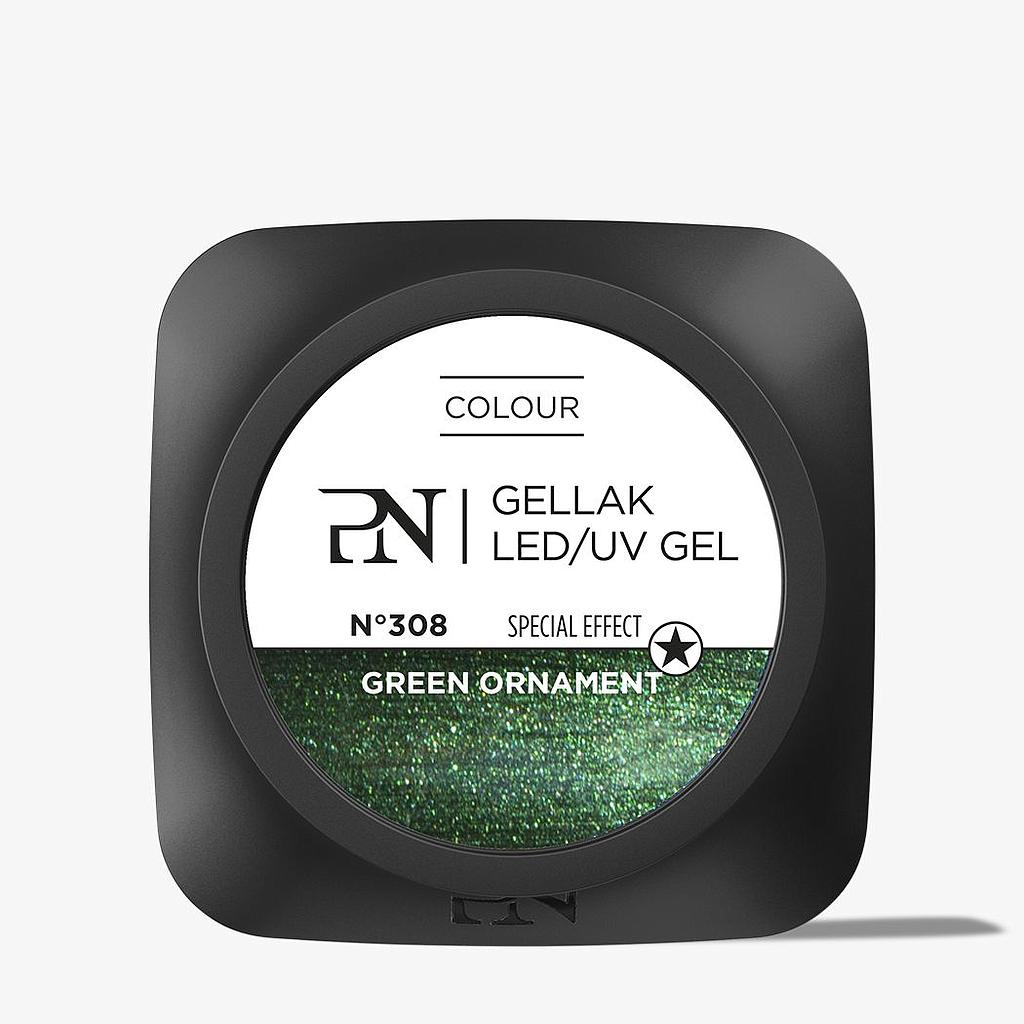 Gellak 308 Green Ornament 10 ml